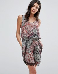 Vero Moda Lace Playsuit Hilly Print Henna Multi