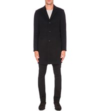 Reiss Gabriel Wool Blend Coat Black