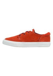 Converse Cons Deck Star Trainers Burnt Pumpkin Chili Paste White Orange