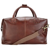 John Lewis Made In Italy Leather Holdall Brown