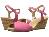 Aerosoles Cupcake Pink Suede Women's Wedge Shoes