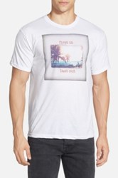 Bowery 'First In Last Out' Graphic T Shirt White