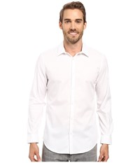 Calvin Klein Slim Chambray Twill White Men's Clothing