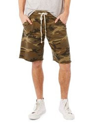 Alternative Apparel Ightweight French Terry Burnout Shorts Camo