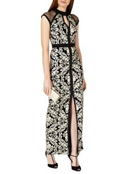 Phase Eight Collection 8 Elodie Embroidered Full Length Dress Black Oyster