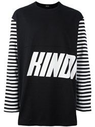N 21 No21 Graphic Print Long Sleeve T Shirt Black