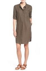 Women's Caslon Linen Shirtdress Olive Tarmac