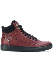 Fabi Hi Top Sneakers Red