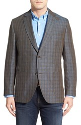Men's Big And Tall Kroon Plaid Linen Sport Coat