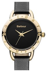 Women's Barbour 'Heritage' Leather Strap Watch 26Mm