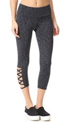 Onzie Weave Capri Leggings Heather Grey