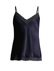Morpho Luna Suni Washed Silk Cami Top Navy
