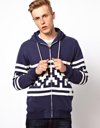 Supreme Being Supremebeing Zip Thru Sweat With Bobble Hood Invader Navy