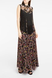 Giamba Women S Embellished Fringed Maxi Dress Boutique1 3131 Nero