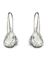 Swarovski Lunar Crystal Earrings Crystal Silver