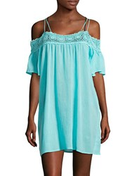 Lablanca Crochet Trimmed Cover Up Dress Ice Blue