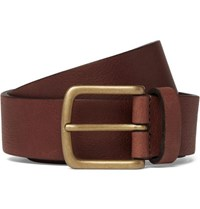 Andersons 3Cm Brown Textured Leather Belt