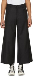 J.W.Anderson Jw Anderson Grey Cropped Cut Out Trousers