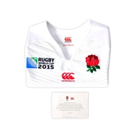 Canterbury Of New Zealand England Home Test Ss Rugby White