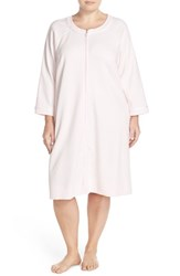 Plus Size Women's Carole Hochman Designs Zip Front Waffle Knit Robe