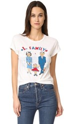 Re Done 1St Family Graphic Tee Vintage White