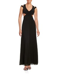 Betsy And Adam Cutout Gown Black