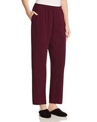Eileen Fisher Silk Straight Ankle Pants Raisinette