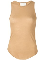 Song For The Mute Fitted Vest Top Brown