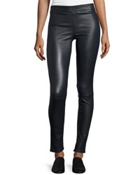 Helmut Lang Lamb Leather Leggings Sapphire