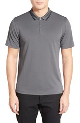 Men's Calibrate Tipped Stretch Polo Grey Shade