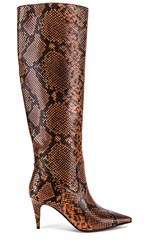 Jeffrey Campbell Parallel Boot In Brown. Brown Black Snake