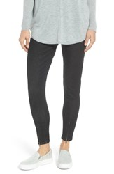 Nordstrom Ankle Zip Denim Leggings Black