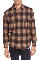 Filson Men's 'Northwest' Wool Plaid Flannel Shirt Navy