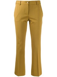 Alberto Biani Cropped Tailored Trousers Green
