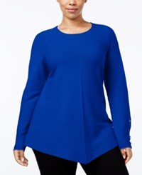 Alfani Plus Size High Low Sweater Only At Macy's Modern Blue