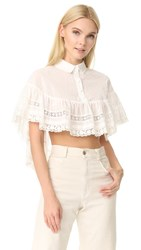 Red Valentino Crochet And Lace Blouse White