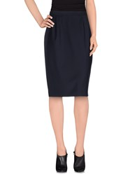 Trussardi Skirts Knee Length Skirts Women Dark Blue