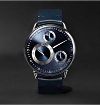 Ressence Type 1 Mrp Mechanical 42Mm Titanium And Leather Watch Navy