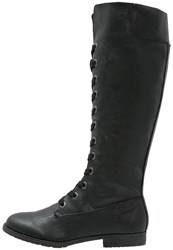 Blowfish Tara Laceup Boots Black