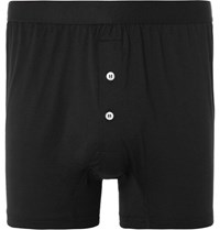 Handvaerk Pima Cotton Jersey Boxer Briefs Black