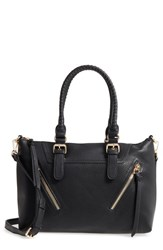 Sole Society Girard Faux Leather Satchel Black New Black