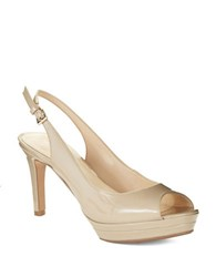 Nine West Able Platform Peep Toe Pumps Off White