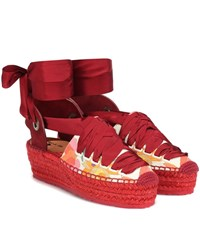 Etro Exclusive To Mytheresa Floral Espadrilles Multicoloured