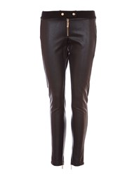 Relish Faux Leather Skinny Trousers Black