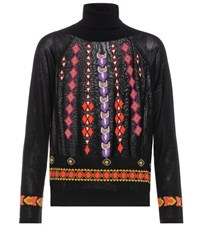 Etro Wool And Silk Blend Sweater Black