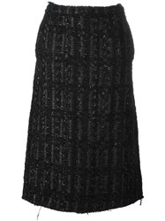 Simone Rocha Lurex Midi Skirt Black