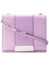 Sergio Rossi Flap Shoulder Bag Pink And Purple