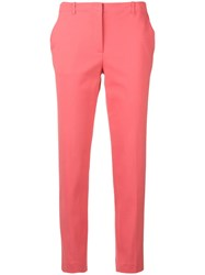 Emporio Armani Slim Cropped Trousers Pink
