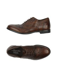 Alexander Hotto Footwear Lace Up Shoes Cocoa