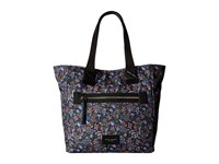 Marc Jacobs Garden Paisley Printed Biker North South Tote Purple Multi Tote Handbags